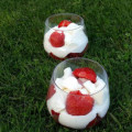 Verrine fraise, chantilly et meringue